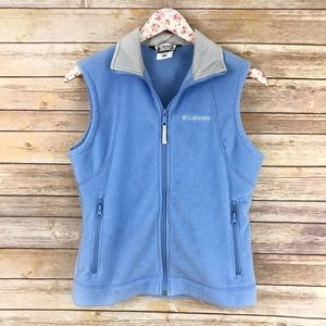 Columbia Light Blue Zip-Up Collared Vest
